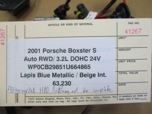 01 Boxster S RWD Porsche 986 AFTERMARKET HID KIT 63,230