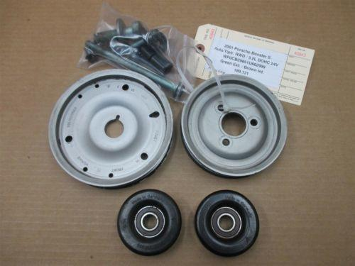 01 Boxster S RWD Porsche 986 Engine 3.2 CRANK POWER STEERING PULLEYS 189,131