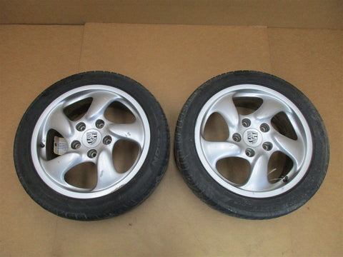 "00 Carrera 911 RWD Porsche 996 Coupe FRONT REAR RIMS WHEELS 17"" 188,977"