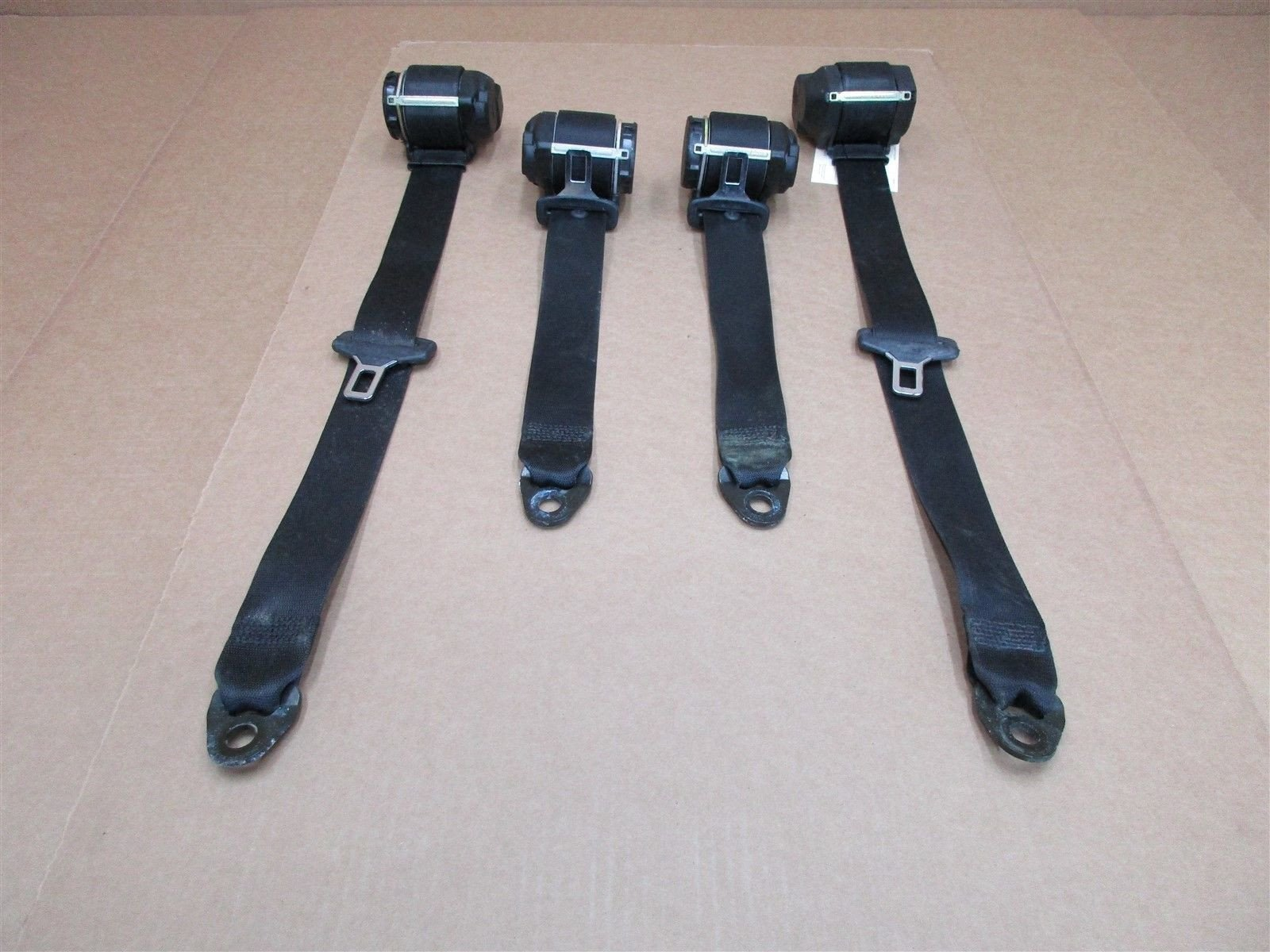 01 Carrera 4 911 AWD Porsche 996 Cabrio FRONT REAR Black SEAT BELTS 89,678