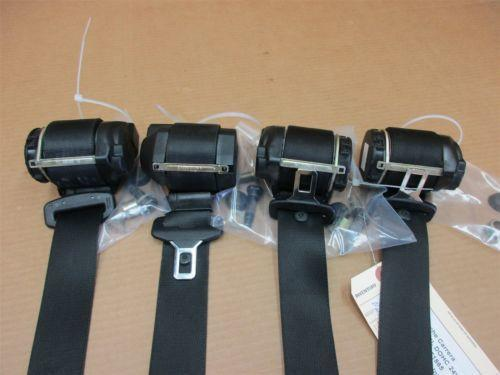01 Carrera 911 Porsche 996 Cabrio 4 FRONT REAR Black SEAT BELTS SEATBELTS 73,422