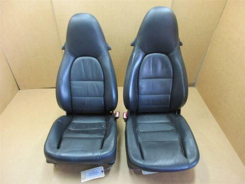 01 Carrera 911 Porsche 996 Cabrio L R FRONT Black Leather 12-WAY SEATS 73,422