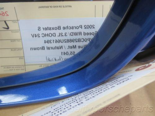 02 Boxster S RWD Porsche 986 L Blue Exterior Side Rear View MIRROR 55,041