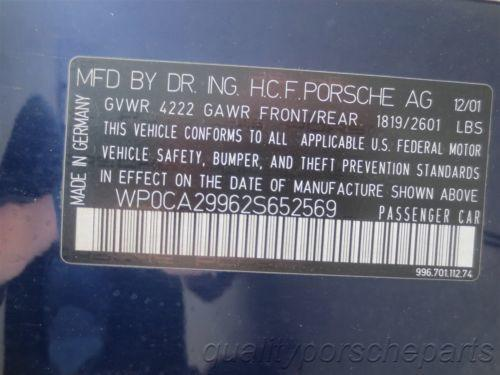 02 Carrera 4 911 AWD Porsche 996 Cabrio Parting Out car parts 77,192
