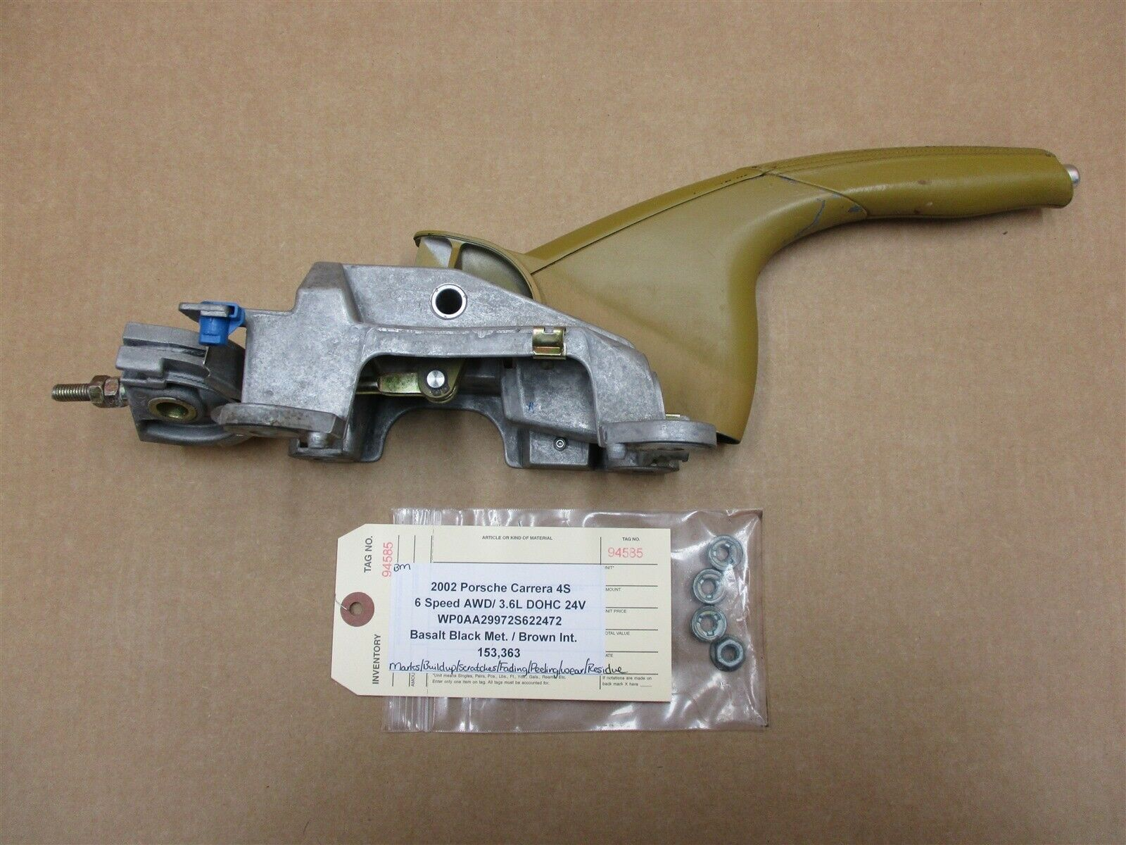 02 Carrera 4S 911 AWD Porsche 996 EBRAKE HANDLE 99642436101 96442456800 153,363