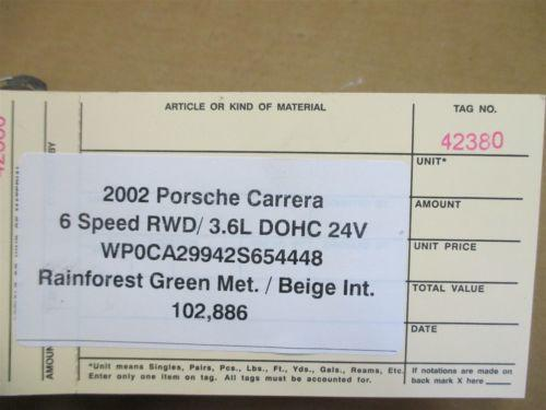 02 Carrera 911 RWD Porsche 996 Cabrio Aftermarket AIR PUMP FAN 102,886