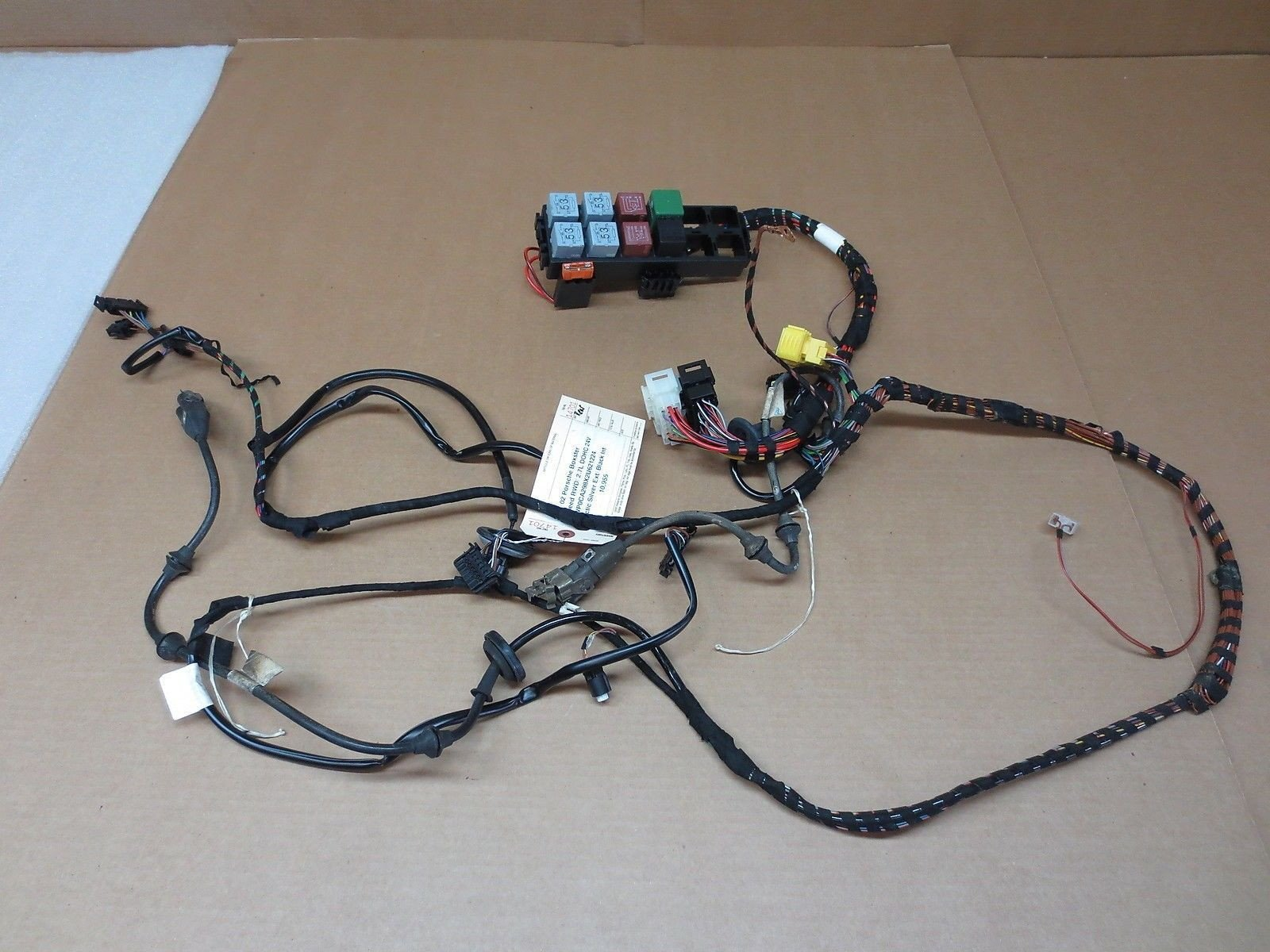 02 Porsche 911 BOXSTER 986 REAR WIRE HARNESS wiring loom relays back 10,955