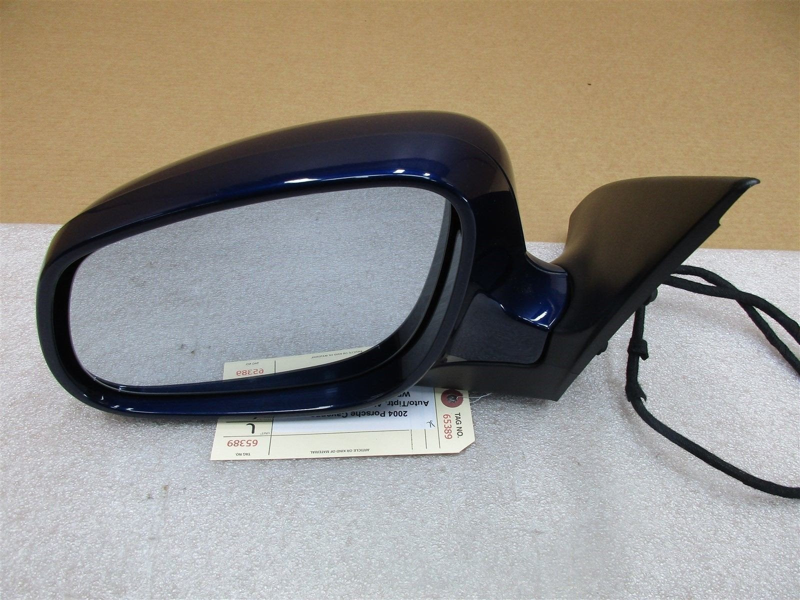 04 Cayenne AWD Porsche 955 L EXTERIOR REAR VIEW MIRROR HOUSING Blue 76,569