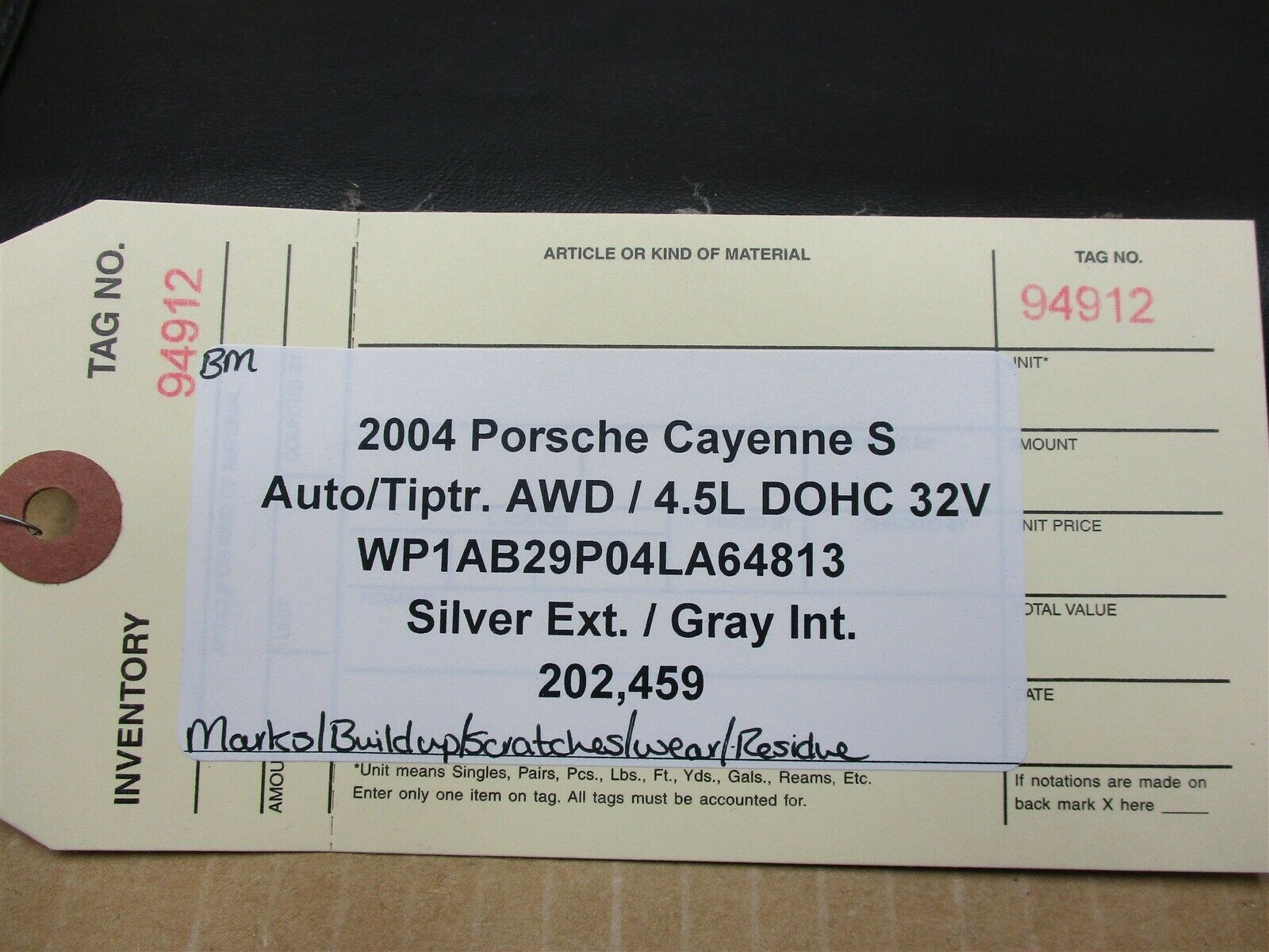 04 Cayenne S AWD Porsche 955 1 BOOKLET OWNER'S MANUAL + Black CASE 202,459