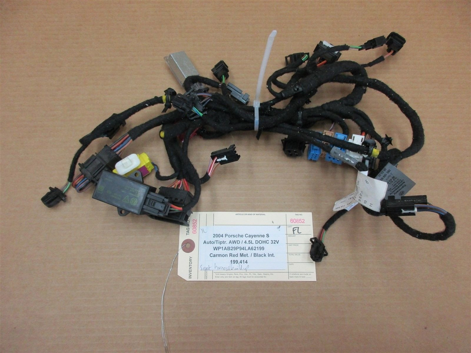 04 Cayenne S AWD Porsche 955 L DRIVER FRONT SEAT WIRING HARNESS 199,41 –  Parts SocietyParts Society
