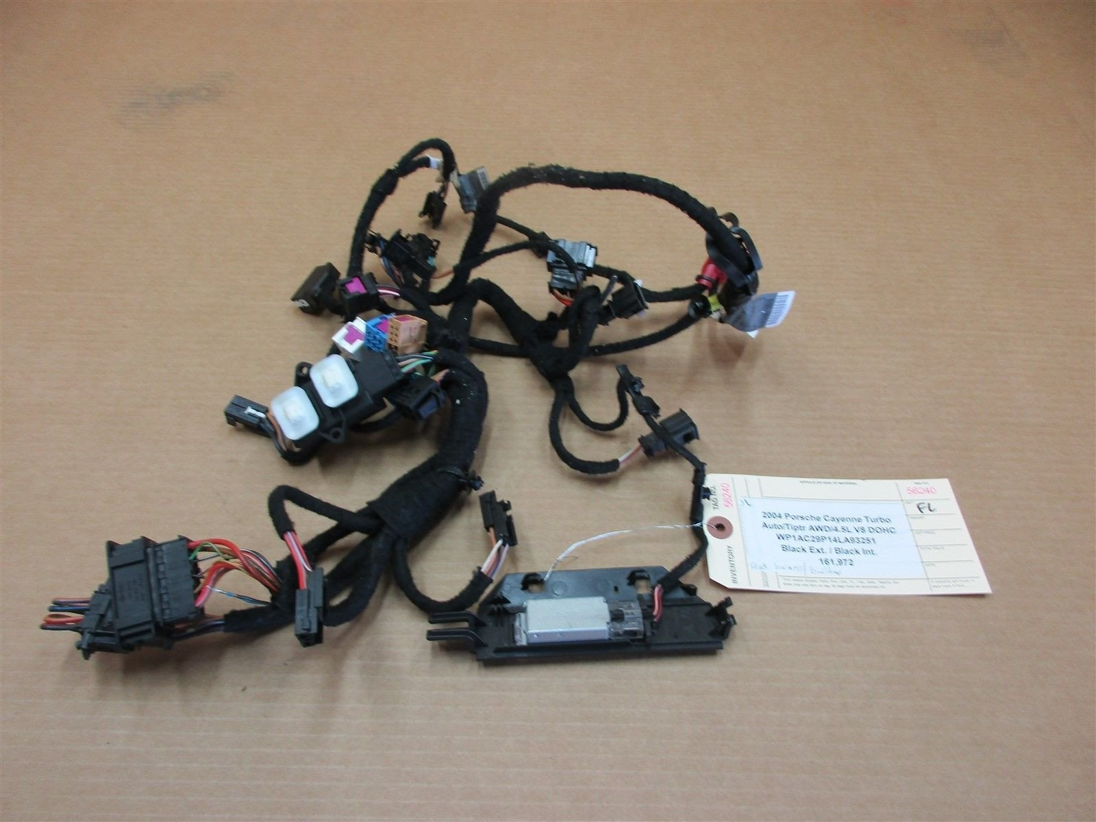 04 Cayenne Turbo AWD Porsche 955 L FRONT SEAT WIRING HARNESS 7L0959772 –  Parts SocietyParts Society