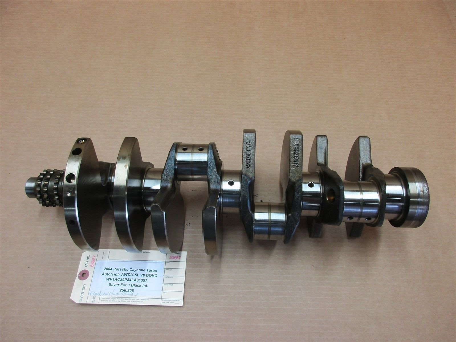 04 Cayenne Turbo Porsche 955 Engine 4.5 CRANK SHAFT CRANKSHAFT 9481012R 256,206