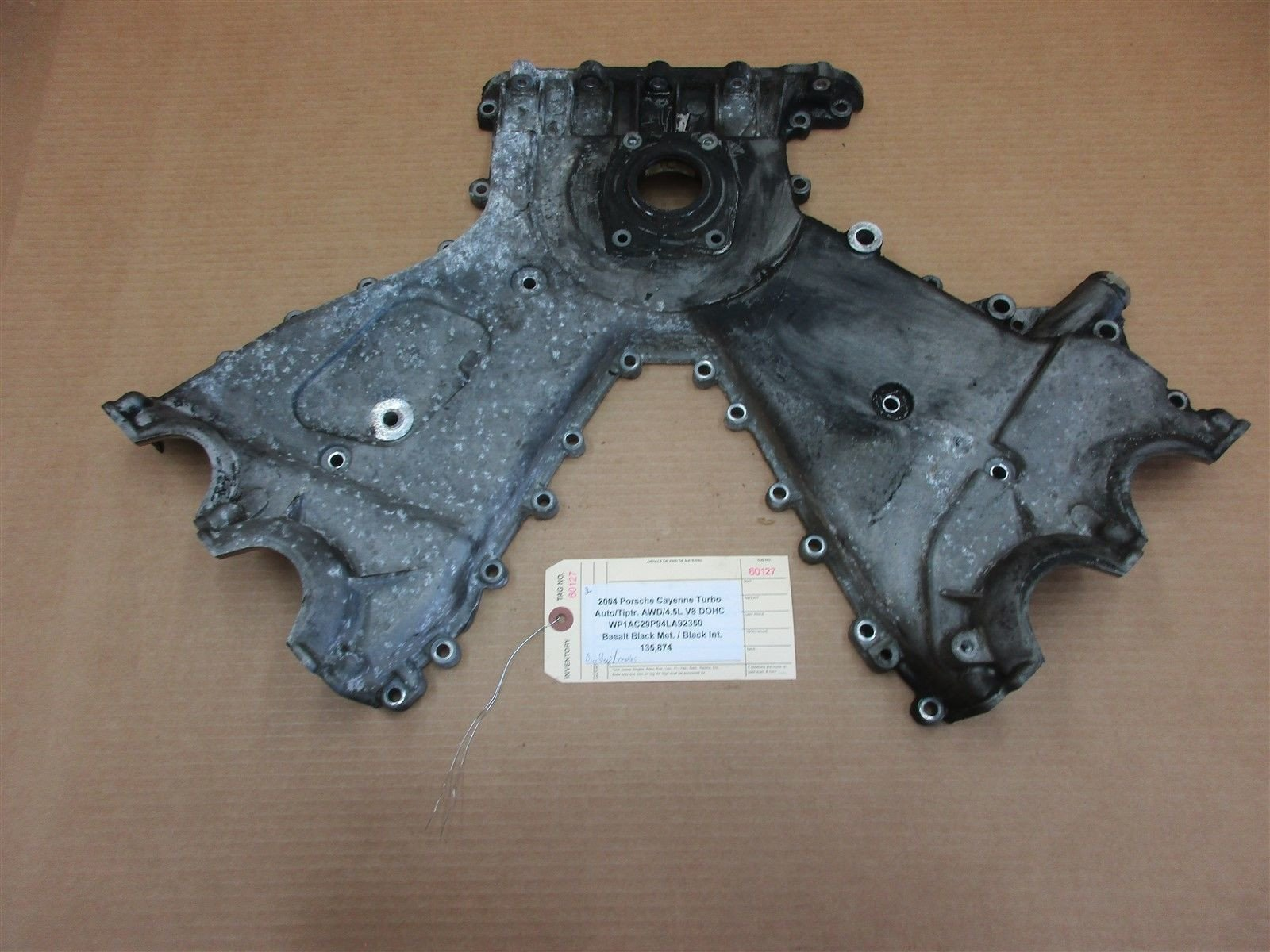 04 Cayenne Turbo Porsche 955 Engine 4.5 TIMING CHAIN COVER 9481011217R 135,874
