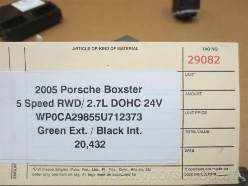 05 Boxster RWD Porsche 987 IMMOBILISER SET ENGINE COMPUTER KEY IGNITION 20,432