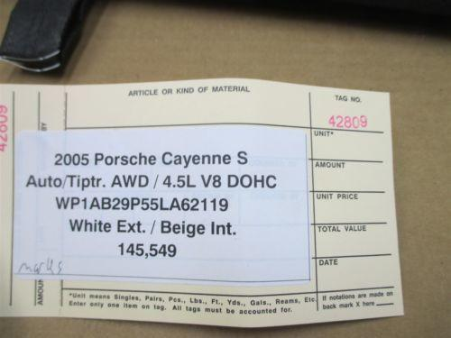 05 Cayenne S AWD Porsche 955 Black Rear DIVIDER TRIM 145,549