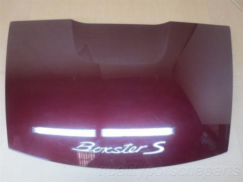 06 Boxster S RWD Porsche 987 Carmon Red REAR LID Trunk Hood Back 51,164