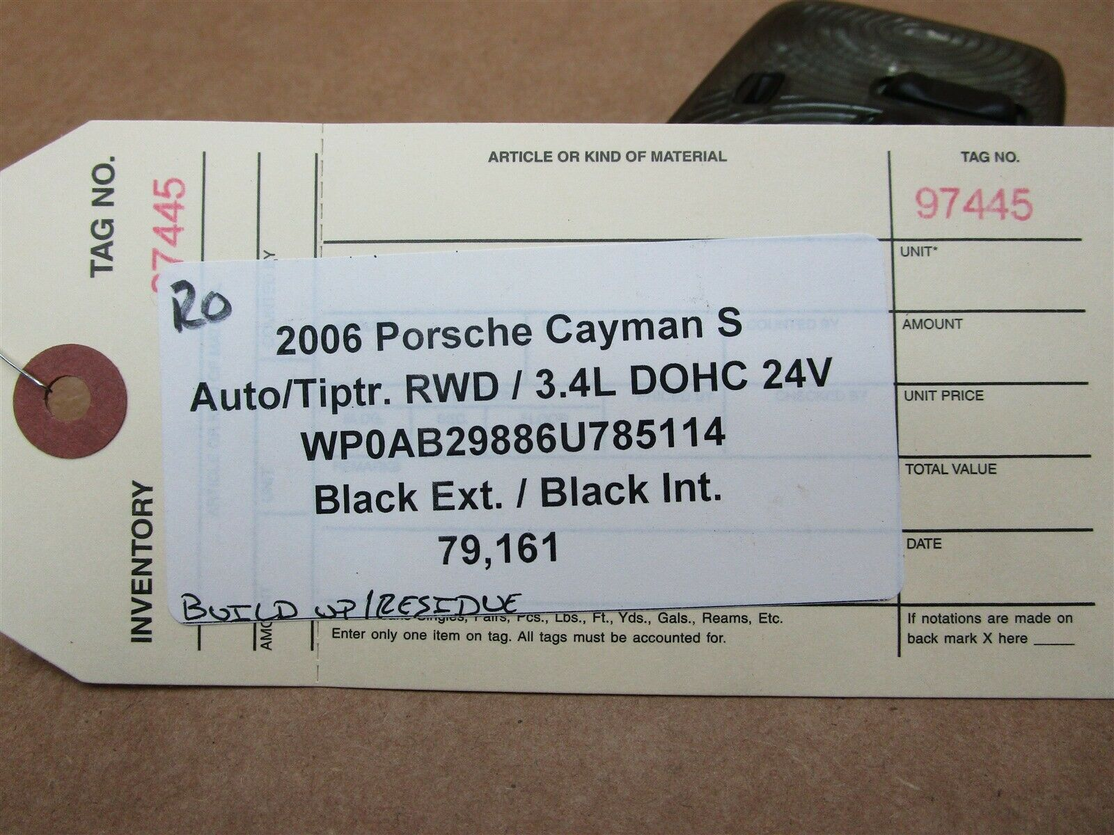 06 Cayman S Porsche 987 INTERIOR DOME ROOF LIGHT 98763205700 98761322500 79,161