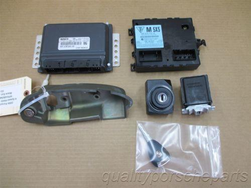 06 Cayman S RWD Porsche 987 IMMOBILISER SET ENGINE COMPUTER KEY IGNITION 53,488