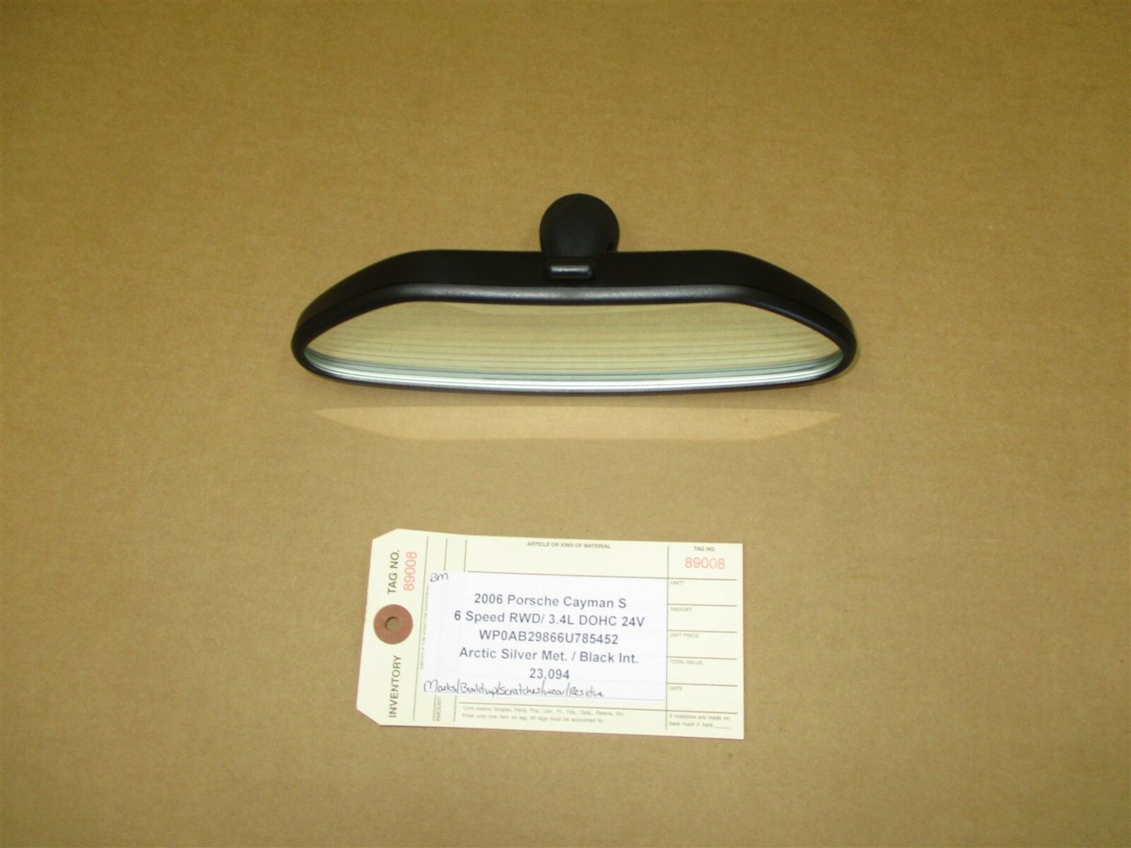 06 Cayman S RWD Porsche 987 INTERIOR REAR VIEW MIRROR HOUSING 99673151100 23,094