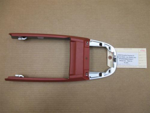 06 Cayman S RWD Porsche 987 Red Silver Console TRIM COVER PANEL 57,555