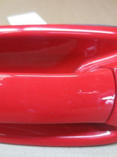 07 Boxster RWD Porsche 987 L Red EXTERIOR DOOR HANDLE 99753706100 86,854