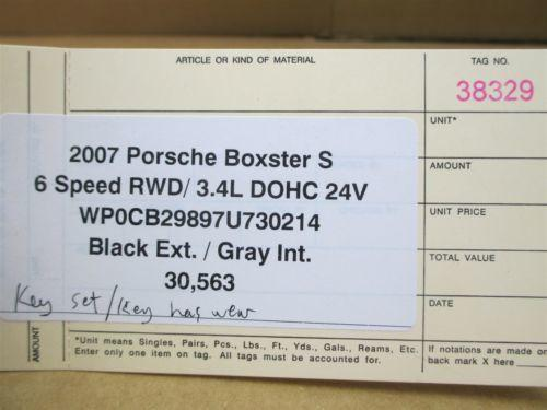 07 Boxster S RWD Porsche 987 IMMOBILISER SET ENGINE COMPUTER KEY IGNITION 30,563