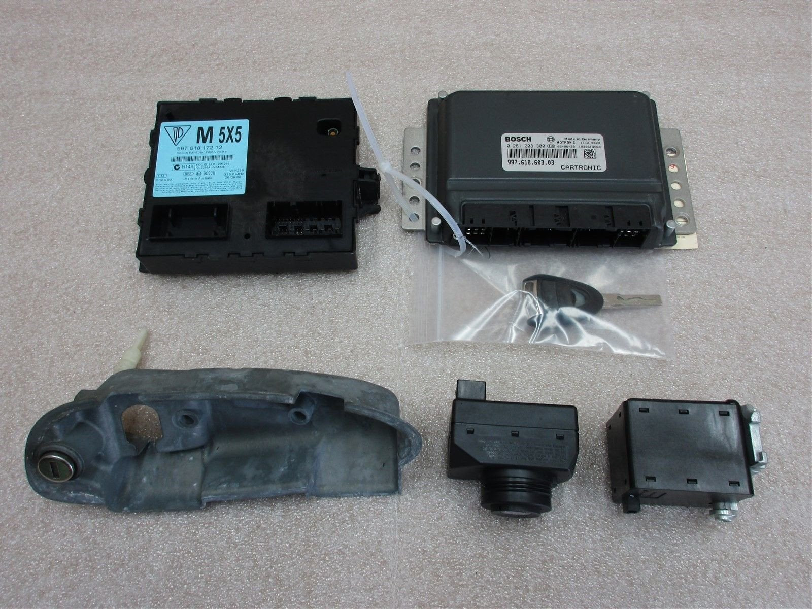07 Cayman S Porsche 987 KEY IMMOBILISER SET 99761860303 ENGINE COMPUTER 72,406