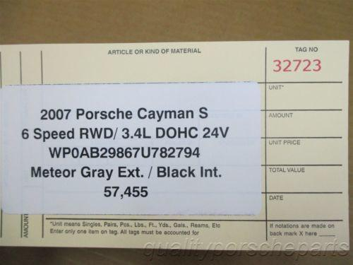 07 Cayman S RWD Porsche 987 IMMOBILISER SET ENGINE COMPUTER KEY IGNITION 57,455