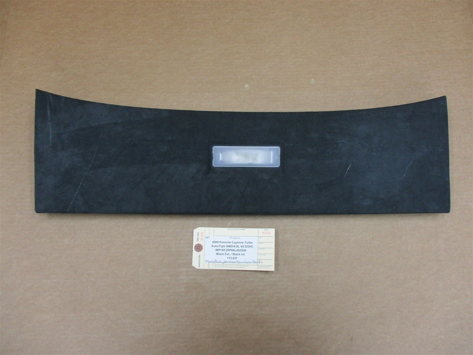 08 Cayenne Turbo Porsche 957 REAR ALCANTARA BOOT PANEL TRIM 7L5867617 113,937