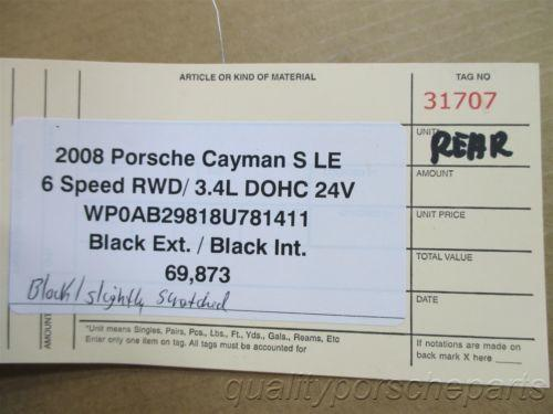 08 Cayman S Limited EDITION 1 DESIGN Porsche 987 Rear Black HATCH GLASS 69,873