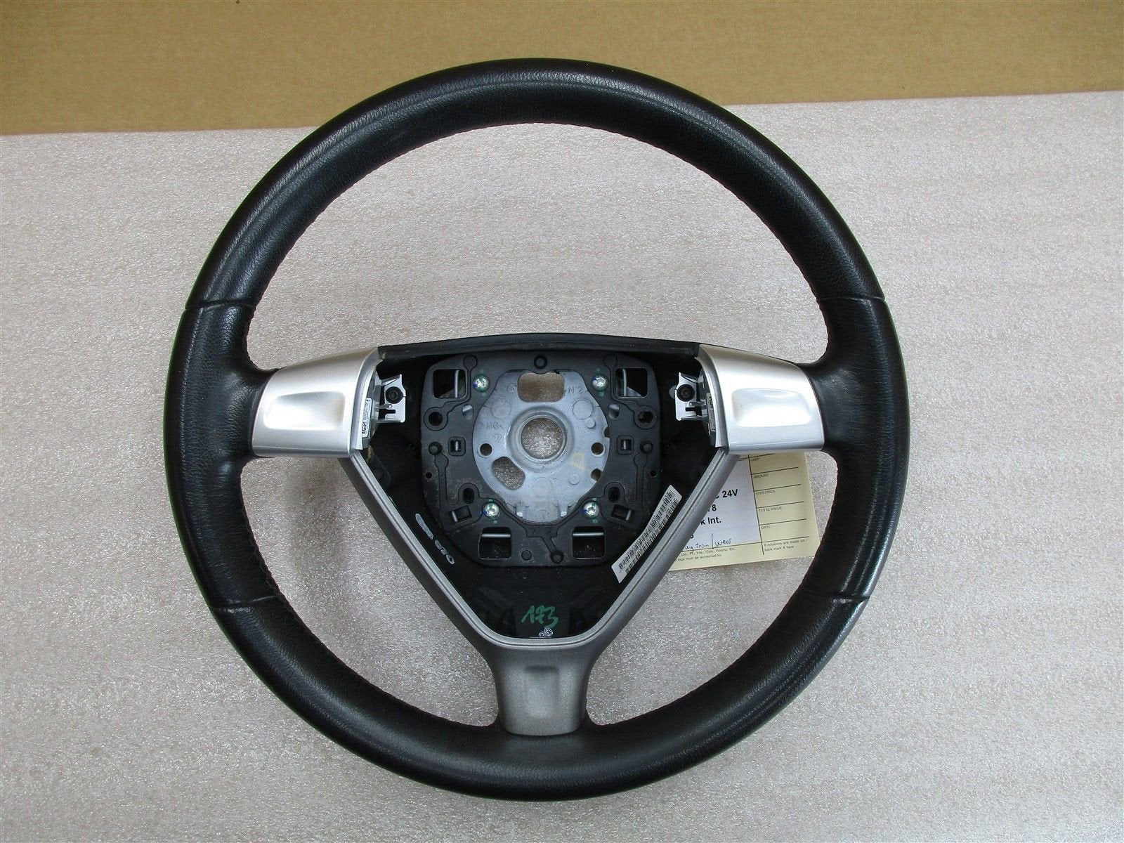 08 Cayman S RWD Porsche 987 3 SPOKE Leather STEERING WHEEL Black Silver 102,426