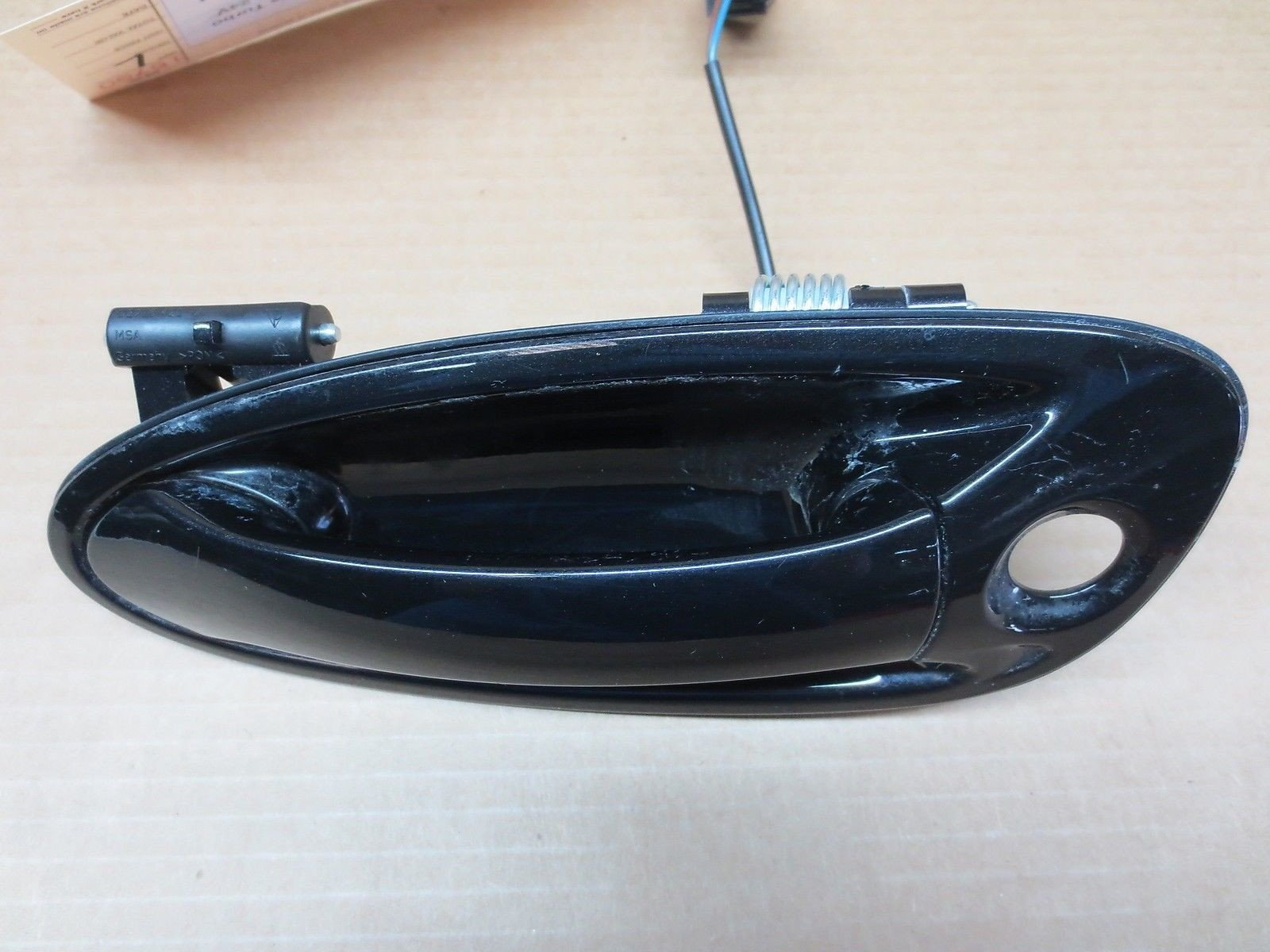 08 Porsche 911 Carrera Convertible TURBO 997 L BLACK EXTERIOR DOOR HANDLE 14,509