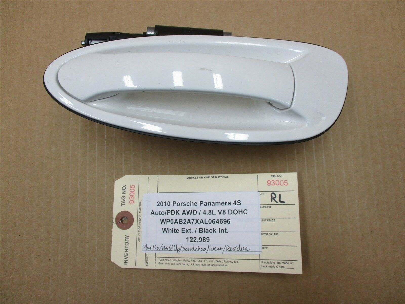 10 Panamera 4S AWD 970 Porsche L REAR EXTERIOR DOOR HANDLE 99753706101 122,989