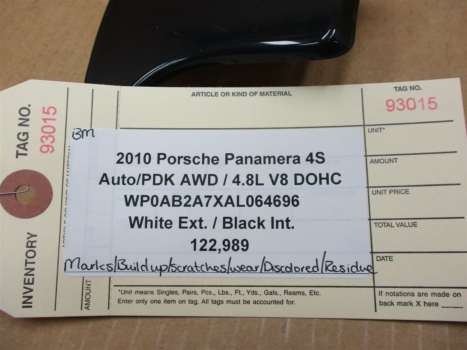 10 Panamera 4S AWD 970 Porsche Wood INTERIOR DASH TRIM 97055238300 122,989