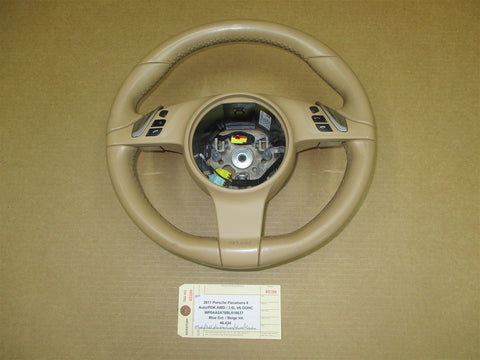 04 Cayenne Porsche L 3 SPOKE STEERING WHEEL AIR BAG 7L5880201 SWITCHES 36,374