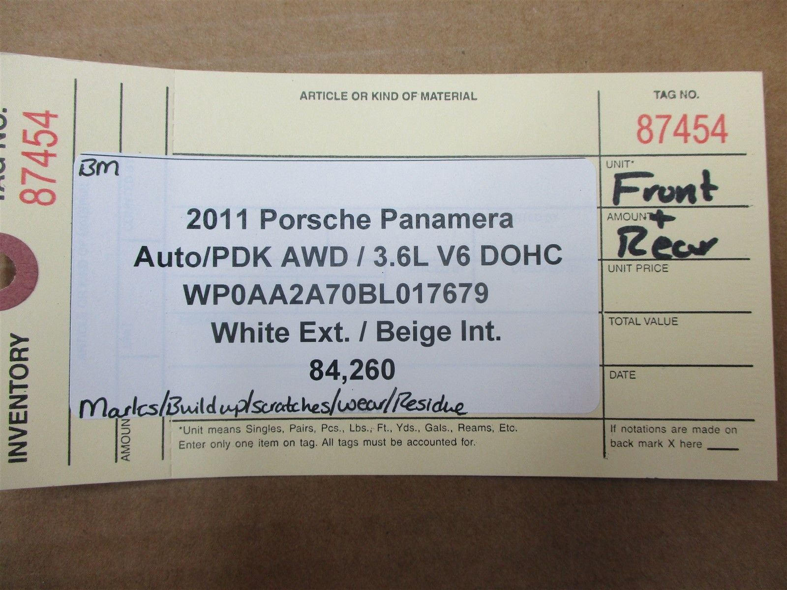 11 Panamera AWD 970 Porsche FRONT REAR INTERIOR ROOF TRIMS 970555608 84,260