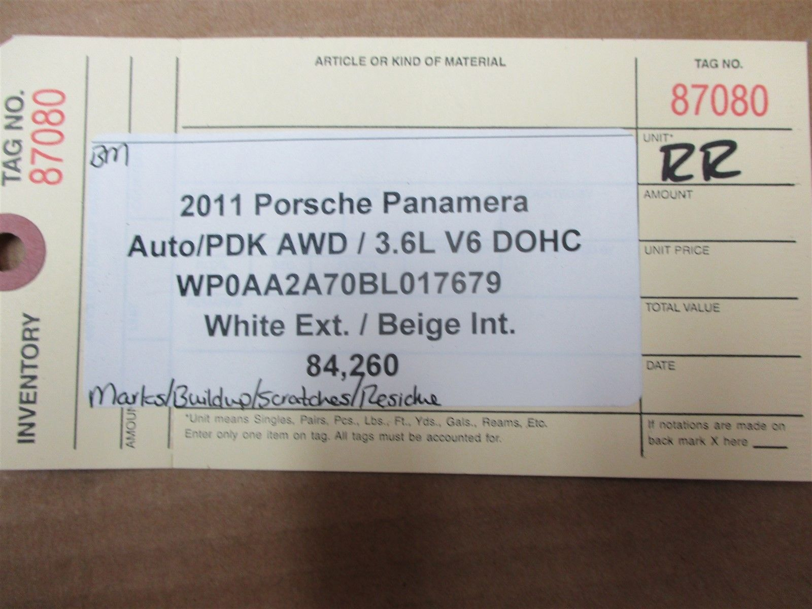 11 Panamera AWD 970 Porsche R REAR QUARTER WINDOW 970544312 PASSENGER 84,260