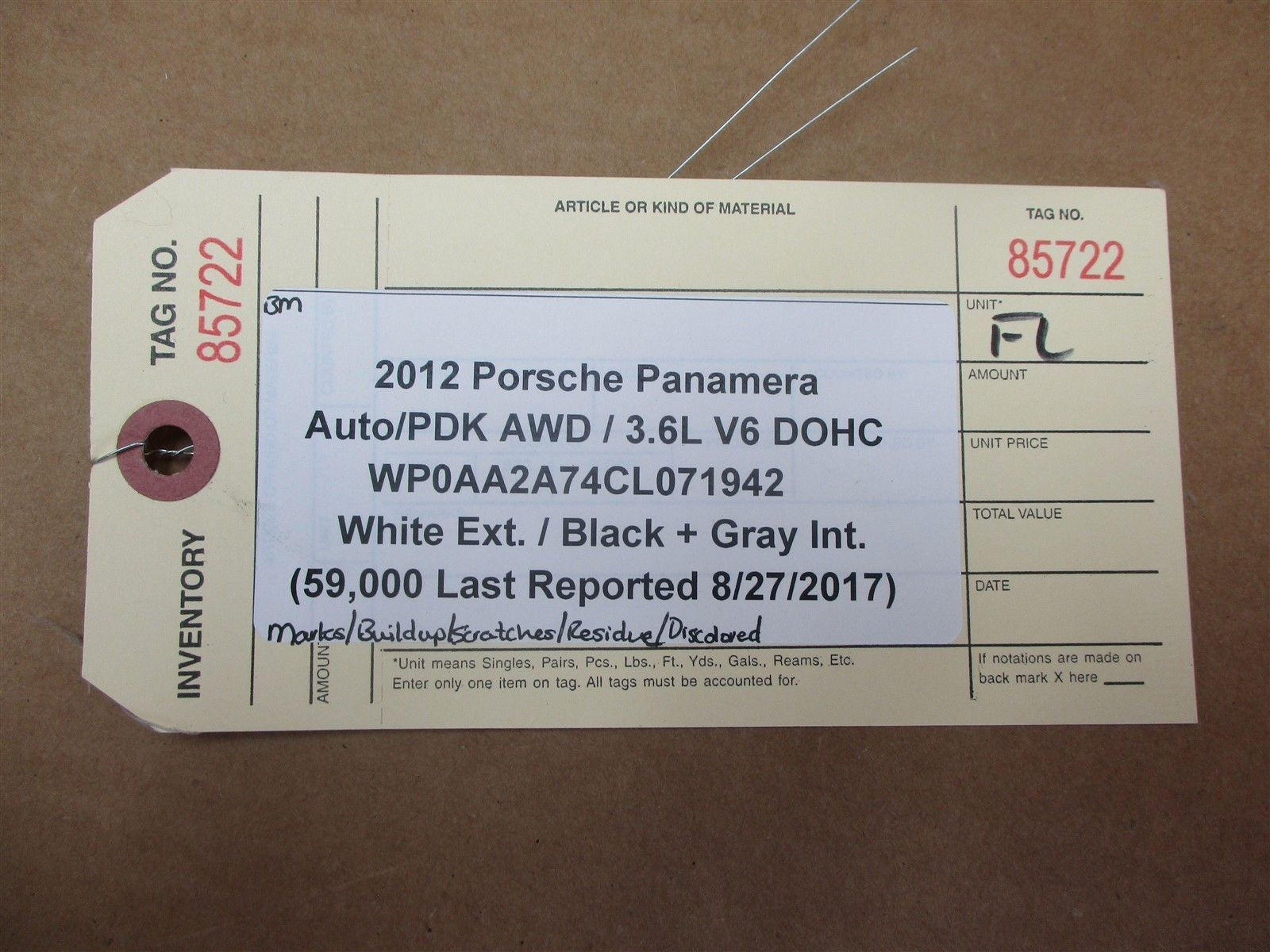 12 Panamera AWD 970 Porsche L FRONT Wood DOOR PANEL TRIM DRIVER 59,000 N/A