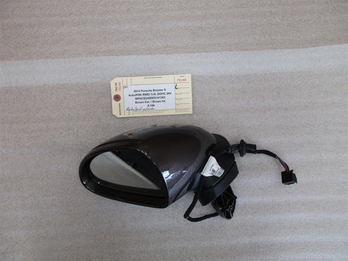 14 Boxster S RWD Porsche 981 L Brown EXTERIOR REAR VIEW MIRROR HOUSING 8,156