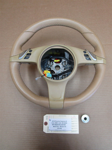 11 Panamera 4 AWD 970 Porsche 3 SPOKE STEERING WHEEL 7PP419091AD SWITCHES 46,434
