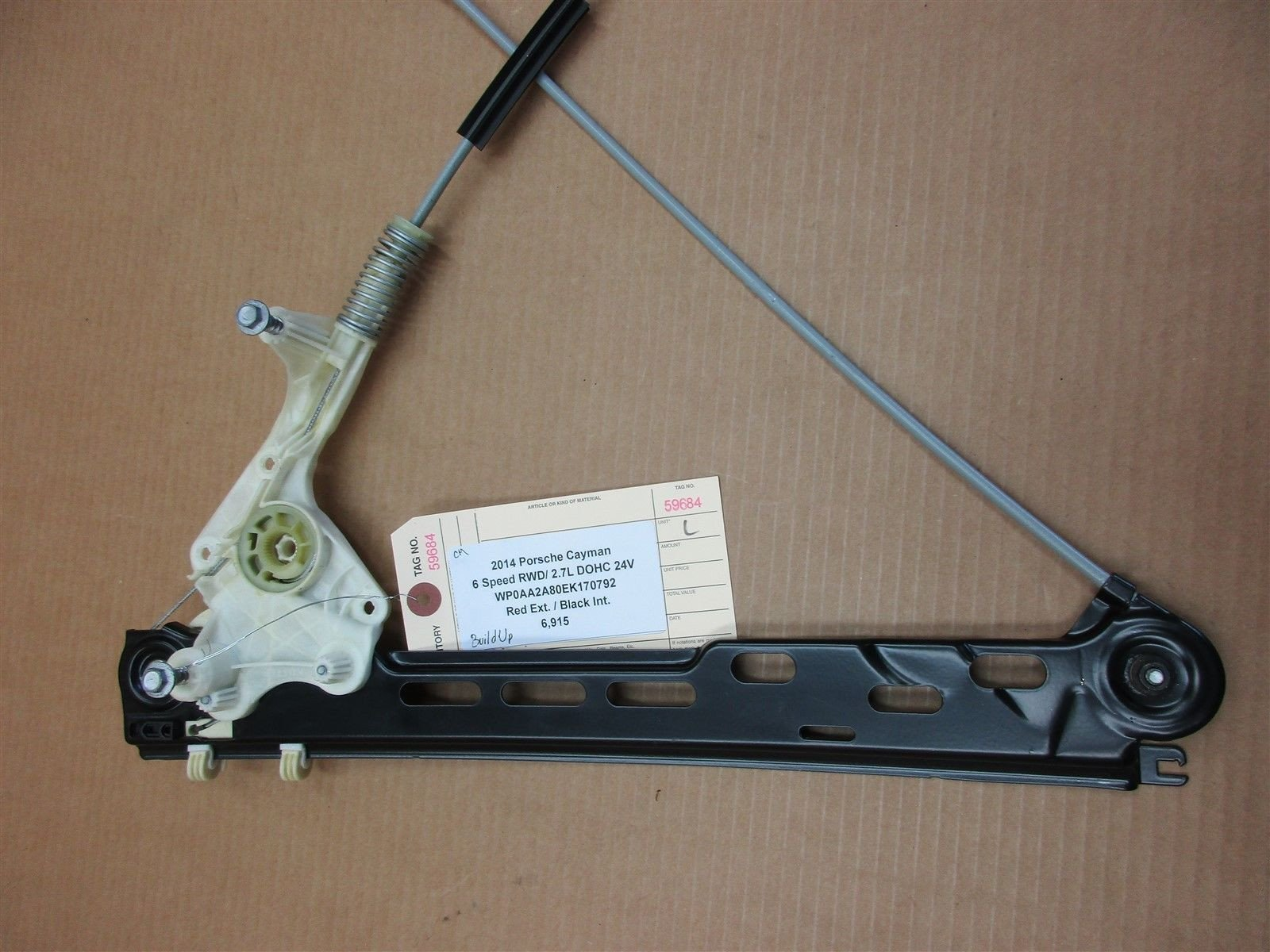 14 Cayman RWD Porsche 981 L DRIVER WINDOW REGULATOR 99154207501 6,915