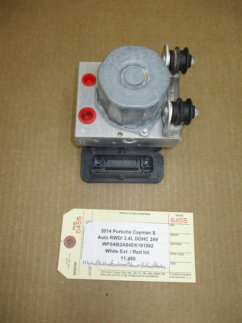 14 Cayman S RWD Porsche 981 ANTI LOCK ABS BRAKE PUMP 98135575502 11,489
