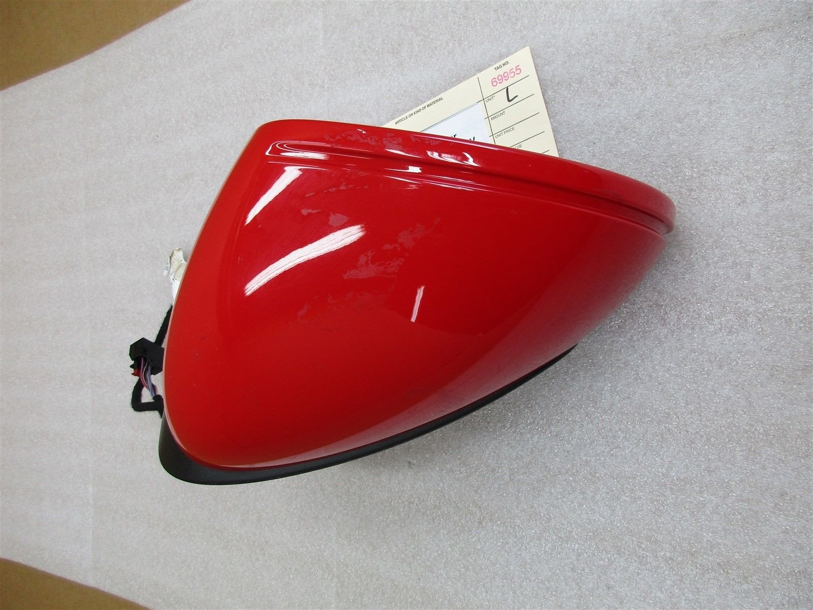 16 Boxster RWD Porsche 981 L EXTERIOR REAR VIEW MIRROR HOUSING Red DRIVER 8,781