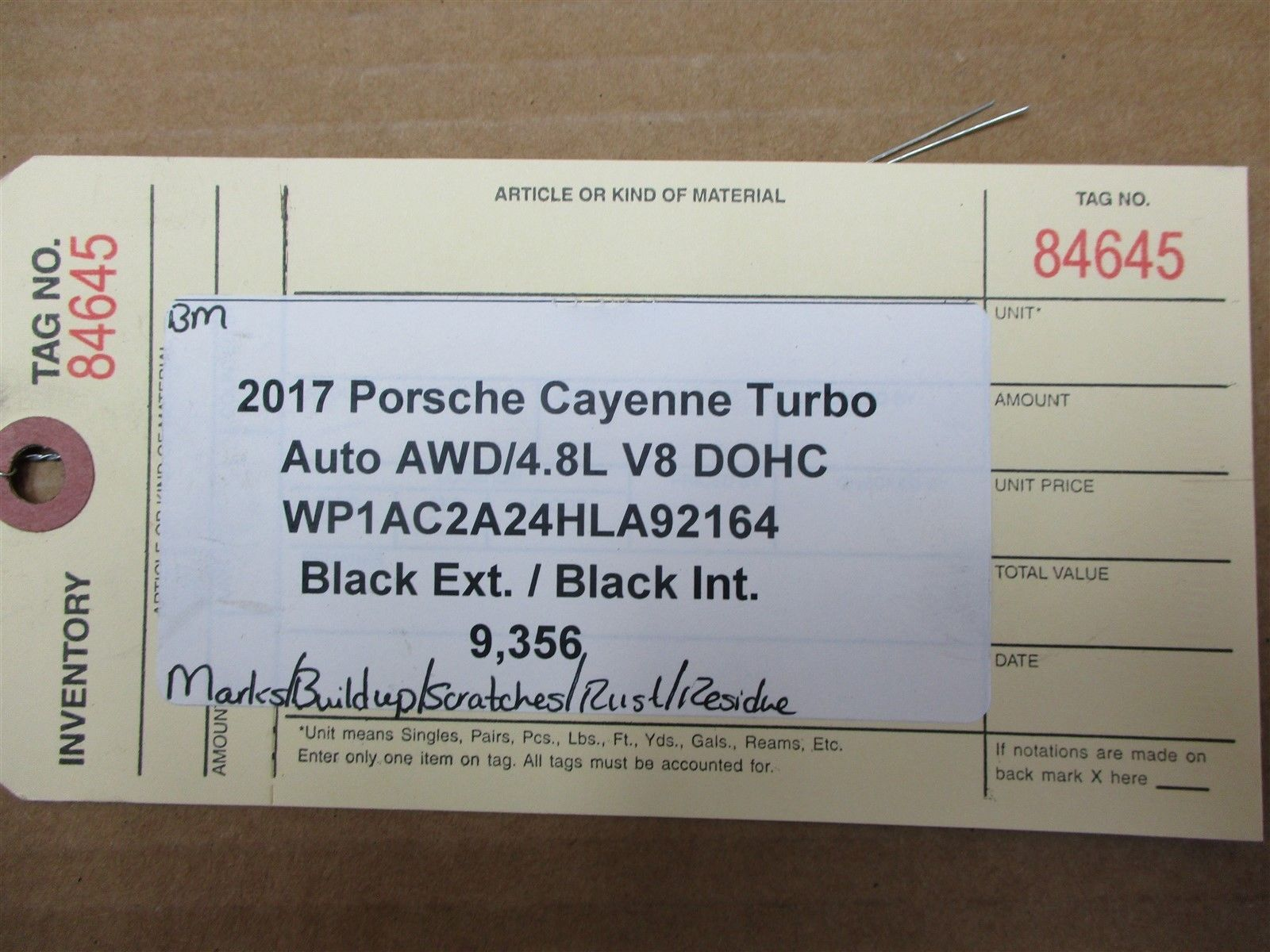 17 Cayenne Turbo AWD Porsche 958 Engine 4.8 FUEL LINE RAILS 94811011558 9,356