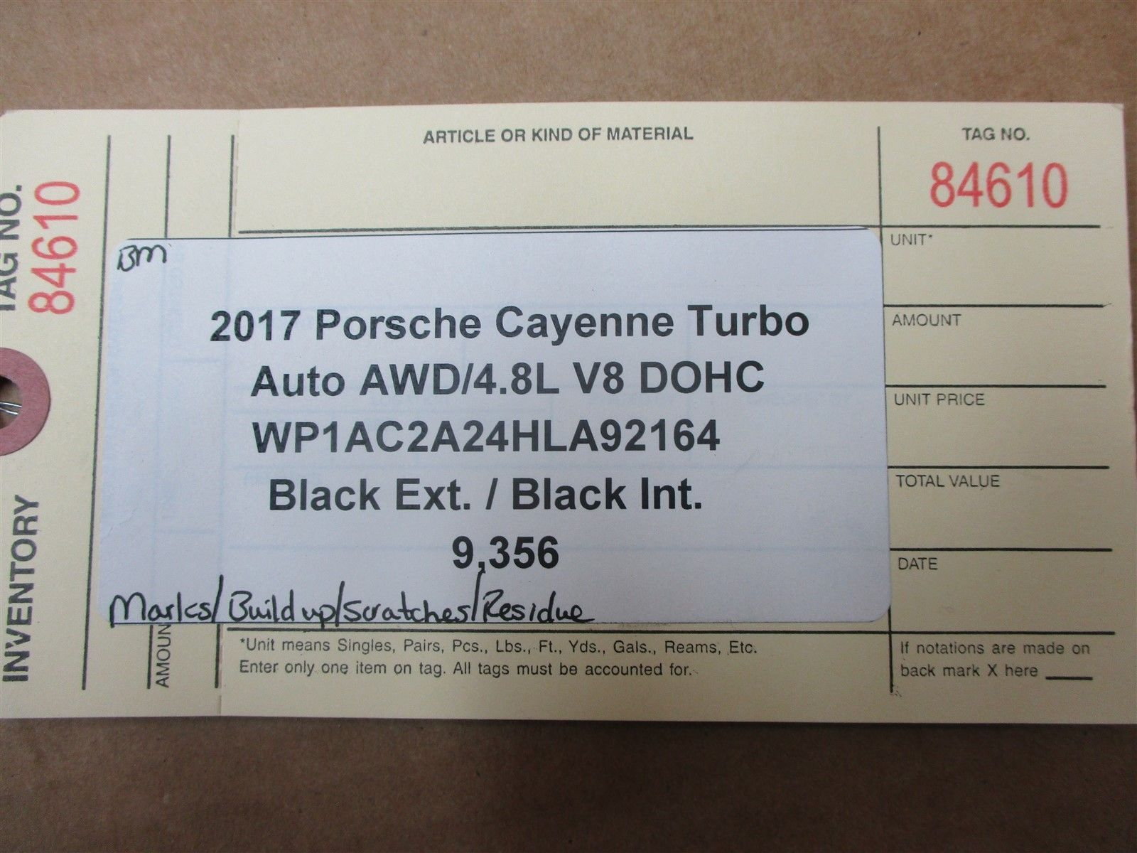 17 Cayenne Turbo AWD Porsche 958 EXTERIOR ROOF RAIL TRIM GUIDES 9,356