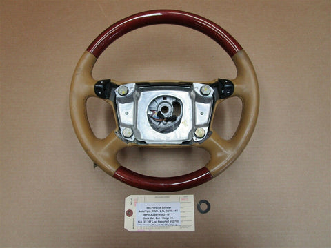 06 Boxster S RWD Porsche 987 3 SPOKE STEERING WHEEL 99734780403 156,708