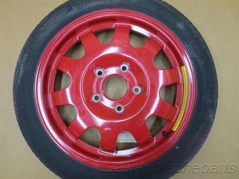 97 Boxster RWD Porsche 986 RED SPARE RIM WHEEL + BAG 99636213001 86,471