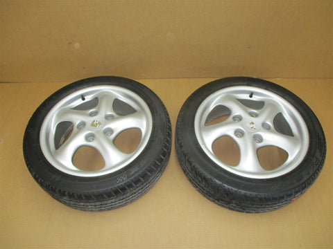 97 Boxster RWD Porsche 986 L R REAR RIMS WHEELS 9Jx18ET43 98736213800 114,406