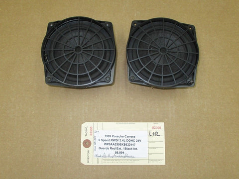 02 Carrera 4 911 AWD Porsche 996 L R 3 FRONT HAES DOOR SPEAKERS 491014050 81,119