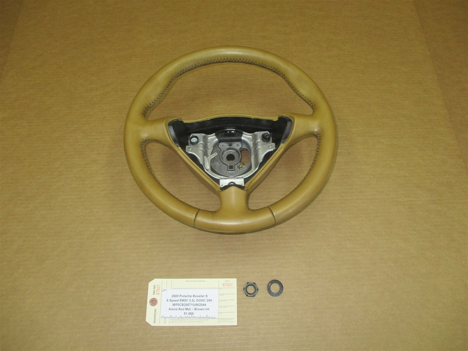 00 Boxster S RWD Porsche 986 3 SPOKE STEERING WHEEL 99634780453 51,569